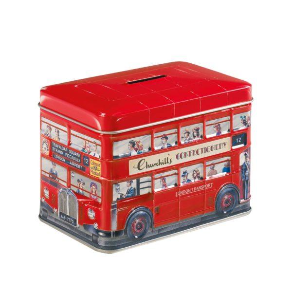 Salvadanaio Bus Rosso con Toffee | Salvadanaio Bus Rosso con Toffee