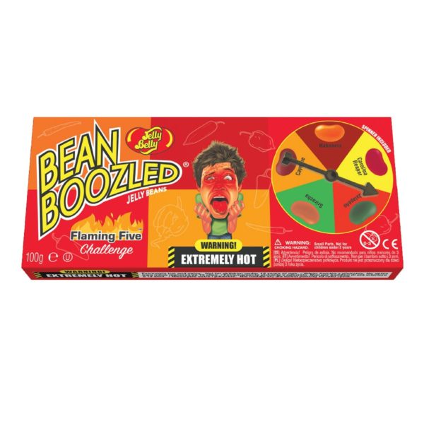 Jelly Belly Beanboozled Flaming Five (caramelle piccanti) Astuccio + Gioco   Jelly Belly Beanboozled Flaming Five (caramelle piccanti) Astuccio + Gioco