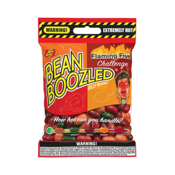 Jelly Belly Beanboozled Flaming Five (caramelle piccanti) Busta   Jelly Belly Beanboozled Flaming Five (caramelle piccanti) Busta