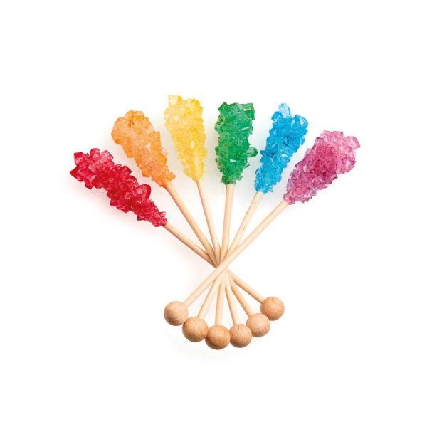 Bastoncini di Zucchero di Canna Caramellato Rainbow | Bastoncini di Zucchero di Canna Caramellato Rainbow